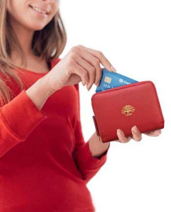 871f0fe063 Dámska peňaženka s ochranou údajov – červená