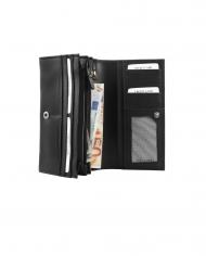 pravá koža čierna dámska peňaženka RFID