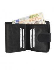 dámska peňaženka RFID ochrana kožená čierna