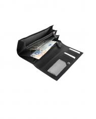 RFID dámska peňaženka čierna pravá koža