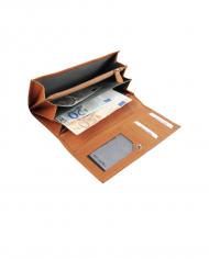 RFID dámska peňaženka pravá koža svetlohnedá