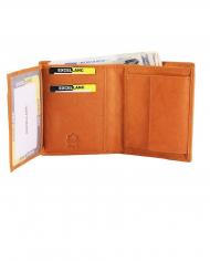 pánska peňaženka hnedá pravá koža