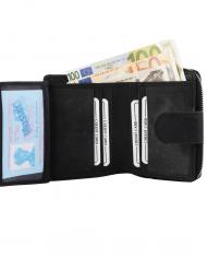 dámska peňaženka RFID čierna ochrana kožená