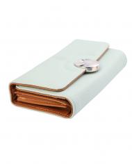 dámska peňaženka imitácia kože svetlomodrá