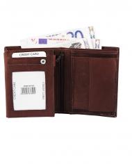 tmavohnedá kožená pánska peňaženka