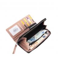 ružová dámska RFID kožená peňaženka