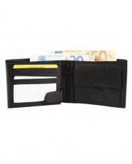 čierna pravá koža pánska peňaženka excellanc