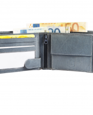 Excellanc pánska peňaženka pravá koža farba sivá