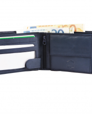 Excellanc pánska peňaženka pravá koža farba modrá