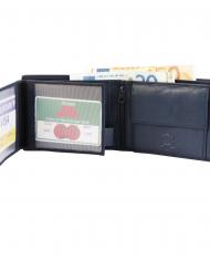 Excellanc pánska peňaženka pravá modrá koža