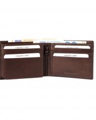 hnedá pravá koža pánska peňaženka excellanc